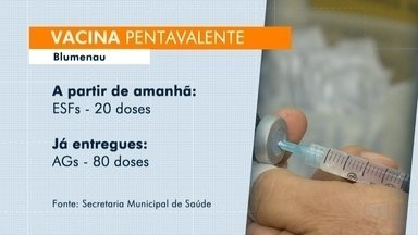 Doses da vacina pentavalente vão ser distribuídas em Blumenau - Doses da vacina pentavalente vão ser distribuídas em Blumenau