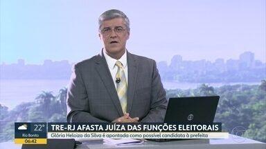 Juíza é afastada das funções eleitorais por possível candidatura - Glória Heloiza da Silva é apontada como possível candidata à Prefeitura do Rio.