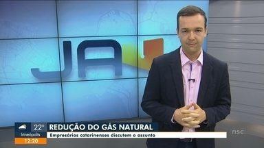 Empresários catarinenses discutem a redução do gás natural - Empresários catarinenses discutem a redução do gás natural