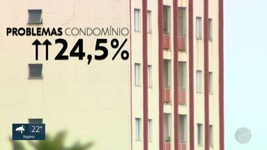 Cresce número de ações na Justiça ligadas a conflitos em condomínios em Campinas - Levantamento mostra aumento de 24,5% nas reclamações sobre problemas em condomínios entre vizinhos. Incômodos incluem latidos de animais, sujeira e barulhos em festas.