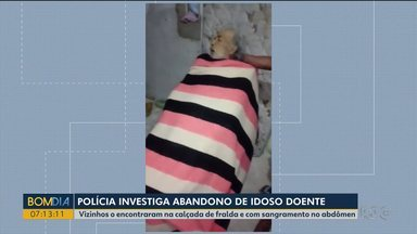 Polícia investiga caso de abandono de idoso doente em Curitiba - Ele foi levado pelo hospital para a casa de familiares, sem que nenhum parente estivesse lá para recebê-lo. O idoso morreu no dia seguinte.