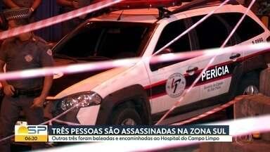 Chacina deixa 3 mortos e 3 feridos em bar na Zona Sul de SP - Invadiram local no Capão Redondo enquanto grupo acompanhava jogo de futebol.