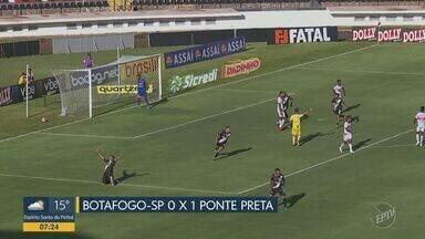 Ponte Preta vence fora de casa com gol de Camilo e boa atuação de Ygor Vinhas - Placar final foi um a zero em partida contra o Botafogo-SP.