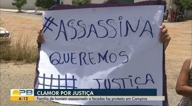 Família de homem assassinado a facadas faz protesto em Campina Grande - Confira os detalhes com o repórter Artur Lira.