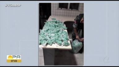 Homem é preso e 5 mil papelotes de cocaína são encontrados na Cabanagem, em Belém - Homem é preso e 5 mil papelotes de cocaína são encontrados na Cabanagem, em Belém