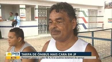 Usuários reclamam de reajuste nas tarifas de ônibus em JP - Confira os detalhes com a repórter Sílvia Torres.