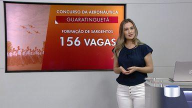 Aeronáutica tem inscrições para 156 vagas na formação de sargentos em Guaratinguetá - Interessados podem se inscrever até 12 de fevereiro pela internet. Candidatos devem ter concluído o ensino médio e curso técnico de nível médio, além de ter entre 17 e 24 anos.
