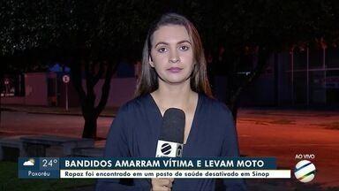 Rapaz é rendido por bandidos e tem a moto roubada em Sinop - Rapaz é rendido por bandidos e tem a moto roubada em Sinop