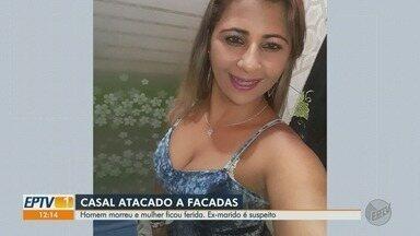 Homem é morto e a namorada esfaqueada pelo ex-marido em Serrana, SP - Suspeito do crime fugiu e está sendo procurado pela Polícia Civil.