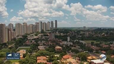 Confira a previsão do tempo para segunda-feira (27) na região de Ribeirão Preto - Temperatura máxima deve chegar a 32ºC.