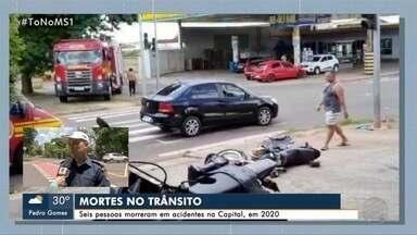 Trânsito: 6 pessoas já morreram nas ruas da Capital em 2020 - Neste fim de semana uma motociclista morreu na avenida das Bandeiras