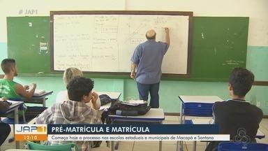 Começa hoje a pré-matrícula e a matrícula para estudar na rede pública em Macapá e Santana - Processo é feito pela internet.