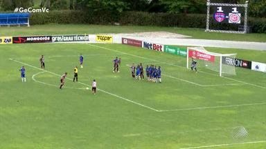 Confira os gols marcados na segunda rodada do Campeonato Baiano - Muita chuva marcou a partida do Jacuipense contra o Bahia de Feira, confira.