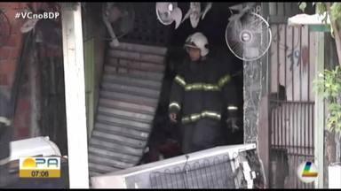 Depósito pega fogo no bairro de Canudos, em Belém - O incêndio foi registrado na manhã desta terça-feira, 28.