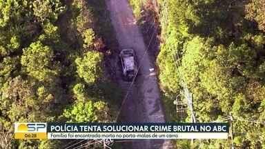 Polícia investiga quem matou família no ABC - Pai, mãe e filho foram encontrados carbonizados dentro de um porta-malas.
