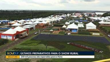 Começa neste fim de semana o Show rural - A feira, considerada uma das maiores da América Latina, deve atrair mais de 250 mil pessoas e gerar dois bilhões em negócios