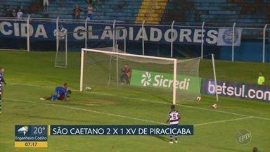 XV sai na frente, sofre virada em cinco minutos e segue sem vencer na Série A2 - Com gol contra no final, Nhô Quim perdeu para o São Caetano no ABC e está em penúltimo na tabela.