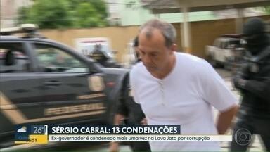 Ex-governador Sérgio Cabral é condenado pela 13ª vez - A condenação foi pela Operação Fatura Exposta.