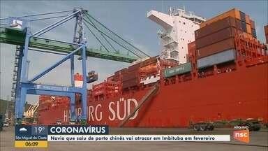 Navio que saiu de porto na China deve atracar em Imbituba em fevereiro - Navio que saiu de porto na China deve atracar em Imbituba em fevereiro