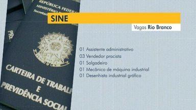 Sine Rio Branco oferta vagas de emprego nesta quinta-feira (30) - Sine Rio Branco oferta vagas de emprego nesta quinta-feira (30)