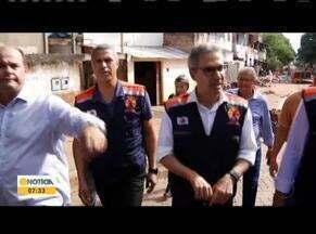 Governador Romeu Zema visita Governador Valadares para ver os estragos da chuva - Romeu Zema, visitou Valadares na última quarta-feira (29), e viu de perto os estragos provocados pela cheia do Rio Doce na cidade.