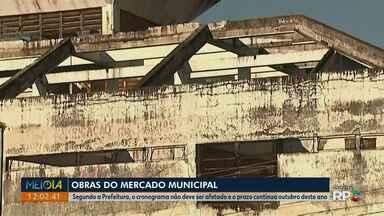 Prefeitura se reúne com empresa para retomar obras do Mercado Municipal de Ponta Grossa - Segundo a prefeitura, cronograma não deve ser afetado e o prazo de entrega continua sendo outubro deste ano.