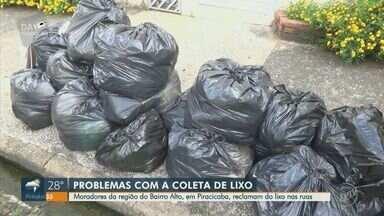 Moradores de Piracicaba reclamam da falta de coleta de lixo - Problema afeta residentes da região do Bairro Alto. Prefeitura informou que houve problemas na coleta desta semana e afirma que o serviço será normalizado hoje anoite.