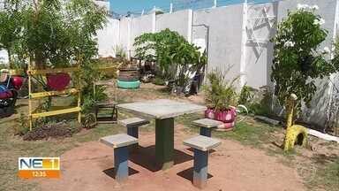 Moradores transformam praça abandonada e com lixo em área de lazer - Iniciativa foi realizada por moradores do Barro, no Recife.
