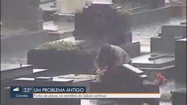 Furtos em cemitérios de Santos continuam - Repórter foi até o cemitério do Saboó, falar sobre um problema que se tornou comum.