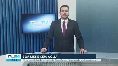 Onze municípios do noroeste do Rio estão sem água devido à queda de energia - Cedae orienta os consumidores que utilizem a água de forma equilibrada. A Enel não informou o motivo da falta de energia.