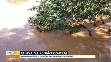 Nível do Rio Pardo Pequeno teve redução em Monjolos após forte chuva - Nos últimos dias, a região central do estado tem sido bastante afetada.