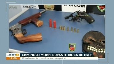 Suspeito morre durante troca de tiros com a PM em Manaus - Suspeito morre durante troca de tiros com a PM em Manaus