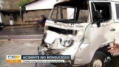 Acidente entre kombi e van com feridos no Bonsucesso - Saiba mais no g1.com.br/ce