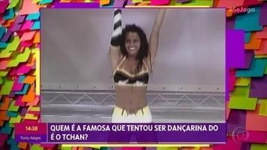 Viviane Araujo relembra concurso Morena do Tchan e dança com o grupo É o Tchan - 'Se Joga' reúne atriz e grupo de axé