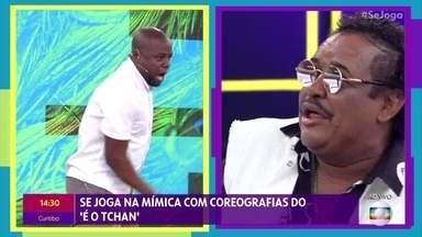 'Se Joga na Mímica' com coreografia do É o Tchan - Compadre Washington e Beto Jamaica precisam descobrir qual é a música