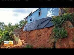 Áreas de risco deixam moradores apreensivos em Teófilo Otoni - Alguns pontos da cidade foram castigados pela chuva.