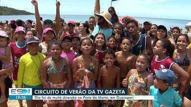 Circuito de Verão da TV Gazeta leva diversão à Guarapari, no ES - O circuito aconteceu na Praia do Morro.