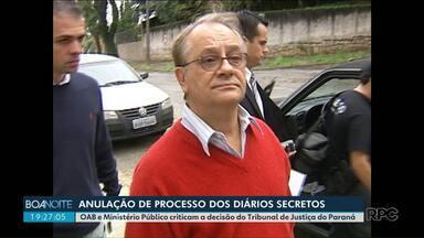 Anulação de processo contra Bibinho gera polêmica - O Ministério Público criticou a decisão do Tribunal de Justiça do Paraná.