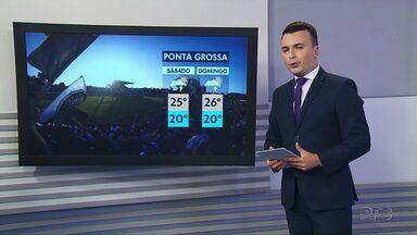 Final de semana pode ter pancadas de chuva isoladas em Ponta Grossa e região - Confira a previsão do tempo.