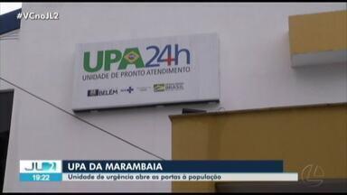 Após seis anos de espera, UPA da Marambaia começa a funcionar em Belém - Obra foi inaugurada no aniversário de Belém e abriu as portas depois de passar por limpeza e desinfecção.