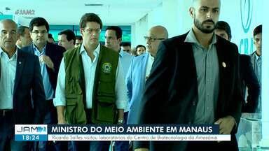 Ministro do Meio Ambiente visita CBA, em Manaus - Ricardo Salles visitou laboratórios.