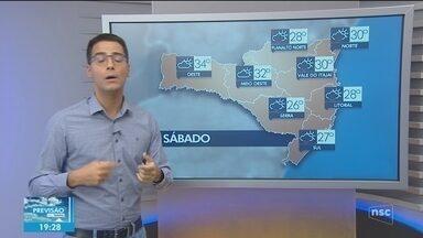 Veja como ficará o tempo em Santa Catarina neste sábado - Previsão indica calor, mas com pancadas de chuva
