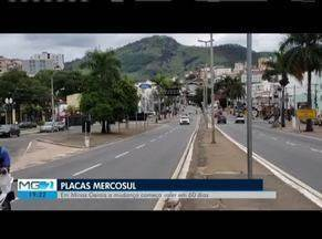 Placa do Mercosul passa a ser obrigatória após publicação do Contran - Em Minas Gerais a mudança começa valer em 60 dias.