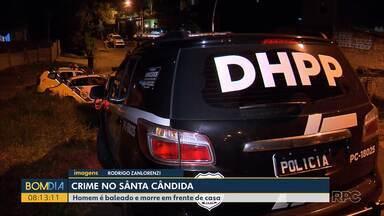 Homem é baleado e morre em frente de casa - O crime foi ontem, à noite, no bairro Santa Cândida, em Curitiba.
