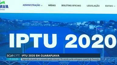 Já é possível acessar guia de pagamento do IPTU pela internet - Os carnês serão entregues nas casas a partir de fevereiro.