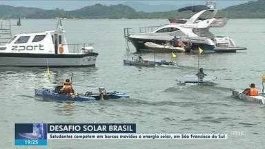 Estudantes competem em barcos movidos a energia solar em São Francisco do Sul - Estudantes competem em barcos movidos a energia solar em São Francisco do Sul