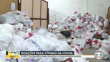 Cruz Vermelha recebe doações para vítimas das chuvas em Minas Gerais - Trabalhos estão concentrados na unidade do Betânia, na Região Oeste de BH.