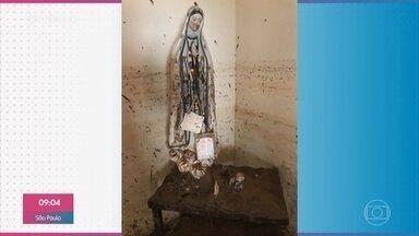 Só imagens de santos permaneceram intactos após enchente em Iconha - Repórter foi conhecer histórias emocionantes contadas por quem perdeu tudo em suas casas, mas segue mantendo a fé apesar da devastação