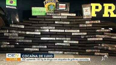Drogas com etiquetas de grife são apreendidas em Horizonte - Saiba mais no g1.com.br/ce
