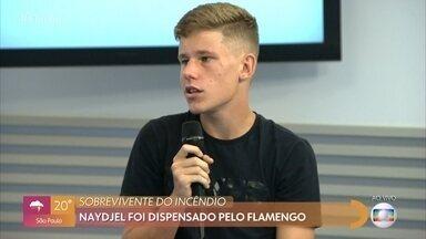 Sobrevivente de incêndio no Ninho, Naydjel foi dispensado pelo Flamengo - Atleta de 15 anos soube da dispensa no dia de seu aniversário e conta que não entende a justificativa de critérios técnicos